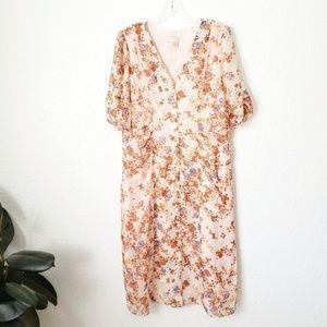 Sundance NWOT Silk Floral Button Down Dress 366